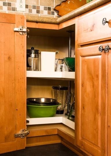 Kitchen Corner Cupboard Organization